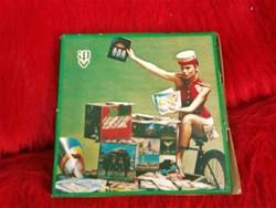 IPV retro reklám pohár alátét (Idegenforgalmi Propaganda Vállalat)