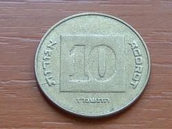 IZRAEL 10 AGOROT 1987  5747 DATOLYAPÁLMA