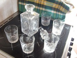 Ólomkristály whiskys készlet