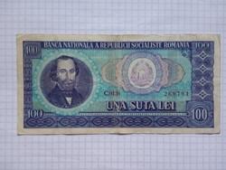 Románia 100 Lei 1966 !! ( 2 )