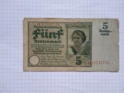 Ritka Rentenmark Németország 1926 !!