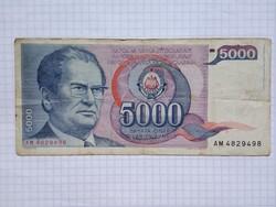 5000 Dínár 1985  !!