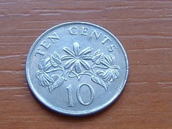 SZINGAPÚR SINGAPORE 10 CENT 1991