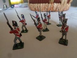 9 ólomkatona - angol gyalogos csapat Napóleon korából