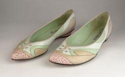0V541 Luciano Barachini bőr balerina cipő 38-as
