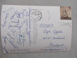 1960.Vasas labdarúgóinak aláirasai,Palotai...