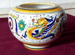 Volpi Deruta  majolika váza