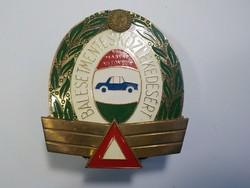 5 év balesetmentes közlekedésért - Magyar Autóklub  - Réz hűtőrács plakett