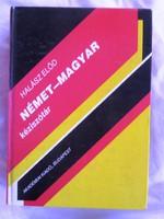 Halász Előd:Német-Magyar kéziszótár, 1991 774 oldal.