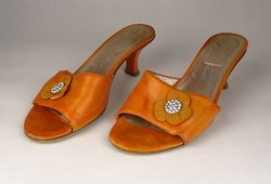 0V538 Narancssárga bőr Cango Rinaldi papucs 38-as