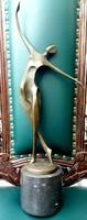 Art deco bronz akt szobor