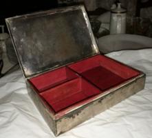 Ezüst doboz, kártyadoboz, szivartartó