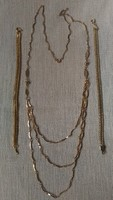 3 az 1 ben aranyozott női 3 soros nyaklánc + 2 karkötő