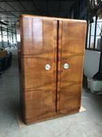 Régi art deco kétajtós szekrény vintage ruhásszekrény