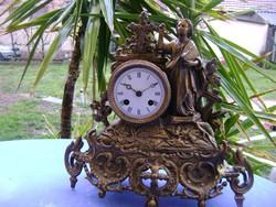 Francia asztali,kandalló óra,1800-s évek vége