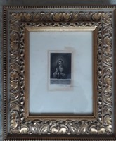 Jézus mellképe - miniatűr rézkarc
