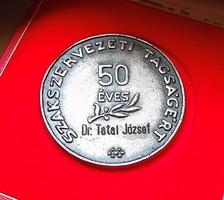 '50 éves szakszervezeti tagságért',közalkalmazottak szakszervezete emlékérem,