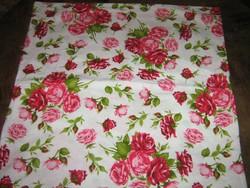 Gyönyörű vintage angol rózsás díszpárna huzat