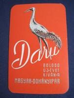 1965. Kártyanaptár - Magyar Dohányipar