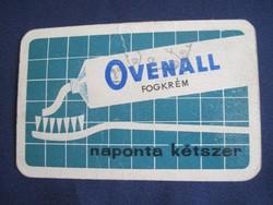 1965. Kártyanaptár - Ovenal