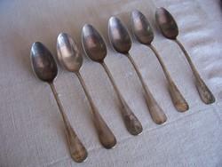 120 éves ezüstözött evőkanalak a Wampetics vendéglőből (1889-1910).