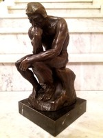 Gondolkodó ember - bronz szobor
