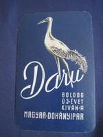 1965. Kártyanaptár - Magyar Dohányipar 1.