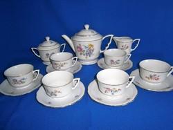 Antik pajzspecsétes nagyon ritka és különleges Zsolnay porcelán manófüles aranyozott teás készlet