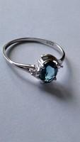 London kék topáz 925 gyűrű(7)