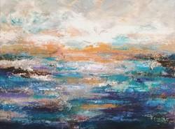 """""""Könnyed hullámok"""" szignózott eredeti absztrakt festmény Közvetlen a művésztől!"""