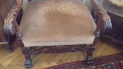 Faragott antik fotel