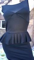 Fekete alkalmi-koktél ruha S testhez simuló