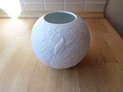 AK Kaiser Bavaria biszkvit fehér porcelán váza