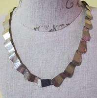 Régi kézműves ezüst nyakék