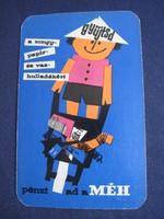 1965. Kártyanaptár - MÉH