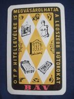 1965. Kártyanaptár - BÁV