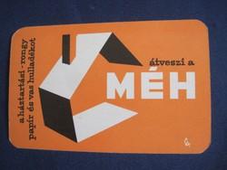 1965. Kártyanaptár - MÉH 1.