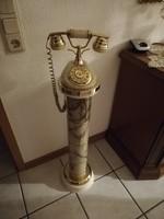 Karrarai 100cm magas posztamens működö telefonnal