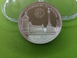 Integráció az Európai Unióba - Hősök tere ezüst 2000 Ft 1998 PP/id 3221/