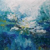 """""""Vizililiom"""" szignózott eredeti absztrakt festmény Közvetlen a művésztől!"""