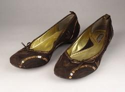 0V558 Barna velúr Sedici Once balerina cipő 38-as