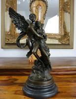 Amor és Psziche - mitológiai jelenetű - bronz szobor