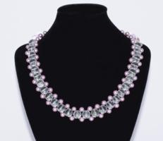 Hegyikristály és Shell Pearl nyaklánc