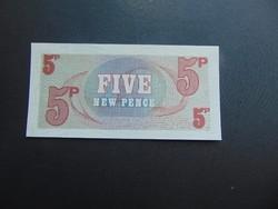 5 pence angol katonai pénz UNC