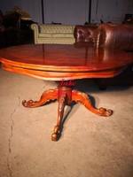 Neobarokk,intarziás kerek dohányzó asztal!