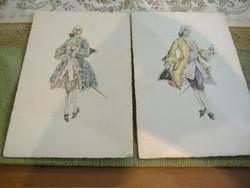 A napkirály divatja 3/A napkirály divatja 4. Két képeslap egyben.