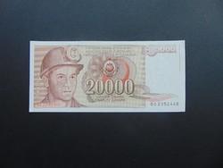 20000 dinár 1987 Jugoszlávia