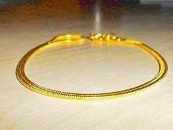 Tömör Kígyó mint.18k Arany GF. uniszex Nyaklánc