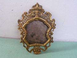 Barokk tűziaranyozott bronz keret, 18. sz