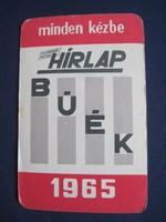 1965. Kártyanaptár - HÍRLAP